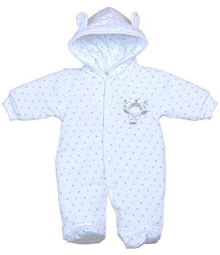 Babyprem Premature Baby Snowsuit Pramsuit Clothes Teddy Unisex 3-5lb White