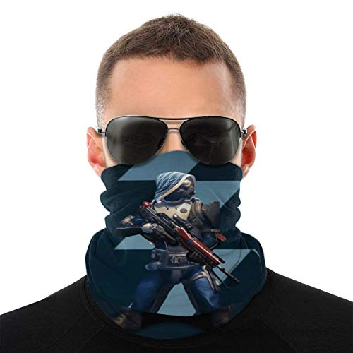 Multifunktionstuch | Schlauchtuch | Sturmmaske Unisex Microfiber Fashion Bandanas, Multifunctional Video Game Destiny 2 Seamless Neck Gaiter - Breathable Windproof Outdoors Bib Riding Mask