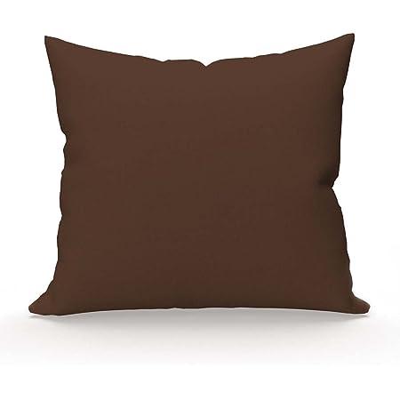 Collection - Taie d'oreiller - 63x63 cm - 1 piéce - chocolat