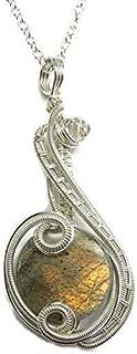 Light Labradorite & Swarovski Crystal Wire-Wrapped