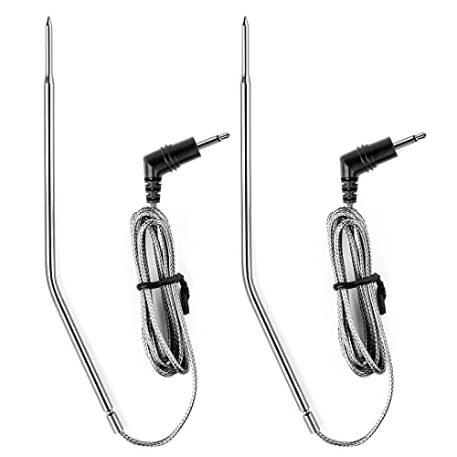 Veken Wireless Meat Grill BBQ Thermometer Probe, Replacement Meat Cooking Thermometer Probe in Waterproof for Oven & Smoker & Roasting (Set of 2)
