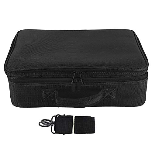 Cosmetic Bags, Waterproof Makeup Storage Bag, Portable for Lipstick Eye Shadow for Makeup Brushes Skincare(Upgraded three-layer tattoo kit-black)