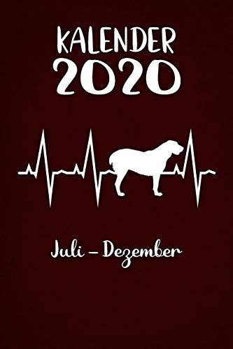 Kalender 2020: Roter Tageskalender Alabai Herzschlag Hunde 2. Halbjahr Juli Dezember ca...