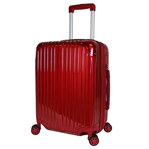 World Traveler Cruise Hardside 20-inch Spinner Carry-On Upright Luggage, Red, One_Size