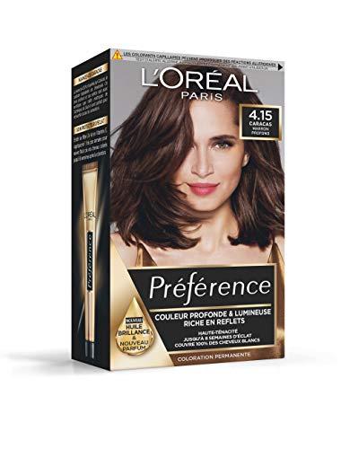 L'Oréal Paris Préférence Coloration Permanente Cheveux, Nuance : Caracas (4.15), Marron Profond