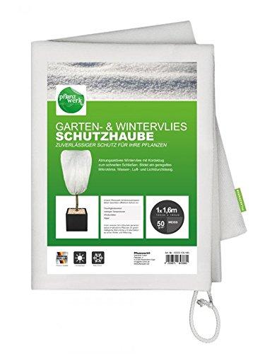 Pflanzwerk® Pflanzkübel Wintervlies Schutzhaube 100x160cm für Blumenkübel 2er-Set *Frostschutz* *UV-Schutz* *Qualitätsware*