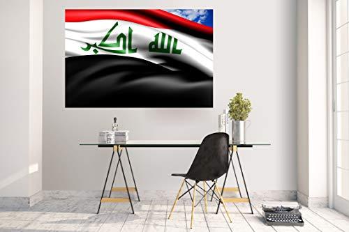 Wandtattoo Wandsticker Aufkleber Kinderzimmer Irak Fahne Flagge
