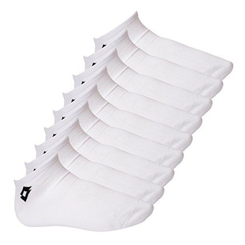Lotto 9 Paar Herren Sneakersocken (43-47, weiß)