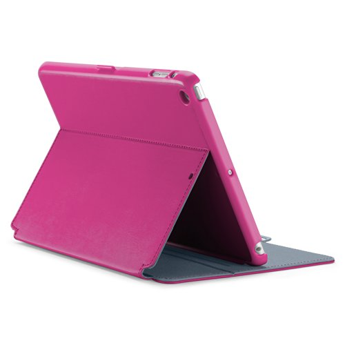 Speck Products StyleFolio Case and Stand for iPad Air (5th Gen) - Fuchsia Pink/Nickel Grey