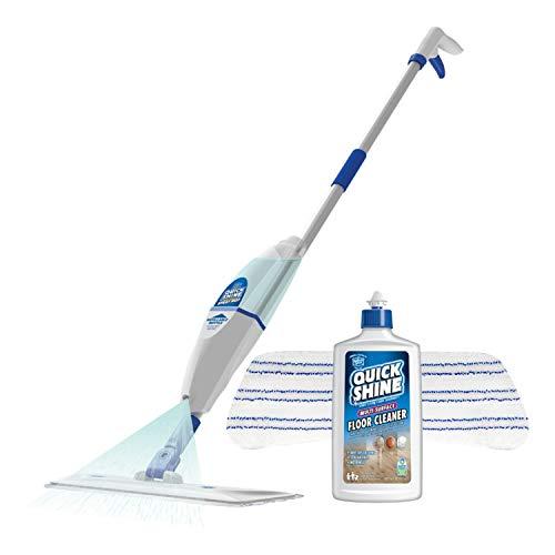 Quick Shine Multi-Surface Spray Mop Kit, White, 16 Fluid Ounces