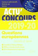 Questions européennes 2019-2020 - Cours et QCM de Lescot Christophe