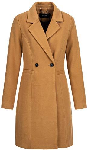 Vero Moda Vmcalarambla 3/4 Jacket Noos Abrigo, Marrón (Tobacco Brown Tobacco Brown), 42 (Talla del fabricante: Large) para Mujer