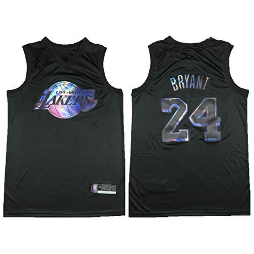 XZDM Camisetas De Kobe Bryant # 24 Lakers para Hombre, Uniforme De Baloncesto Retro, Camisetas Bordadas De Baloncesto, Camiseta Sin Mangas Unisex Rainbow Edition-L
