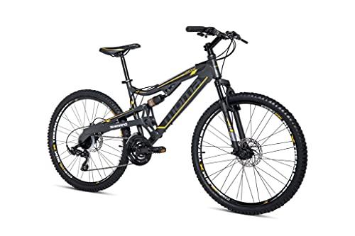 "Moma Bikes Bicicleta Montaña 26"" EQX5.0 Alu, SHIMANO 24V, Doble Freno Disco, Doble Susp. (Varias Tallas)"