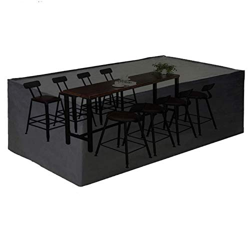 king do way Outdoor Patio Furniture Covers, 180X120X74cm Oxford Polyester Extra Large Size Furniture Set Covers Fits to 6-8Seat Black 70'x47'x30'(180X120X74cm)