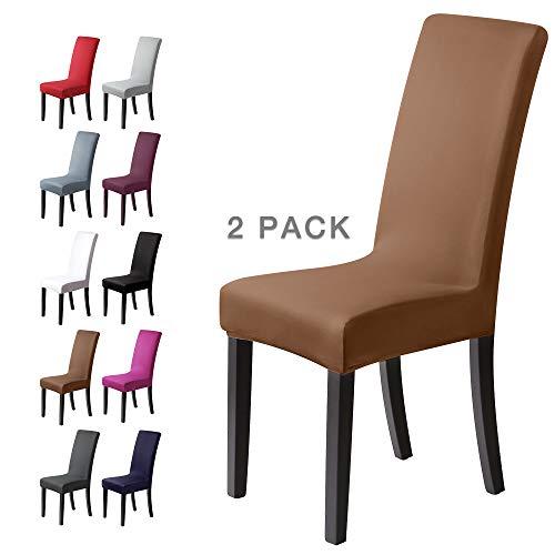 BalladHomeFundas para sillas Pack de 4 Fundas sillas Comedor Fundas elásticas, Cubiertas para sillas,bielástico Extraíble Funda, Muy fácil de Limpiar, Duradera (Paquete de 4, Beige-Piedra)