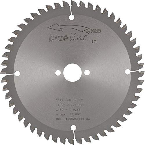 AKE Hoja de sierra circular (HW, diámetro 160 x 2,2 x 20 mm, Z52, dentado plano trapezoidal, positivo)