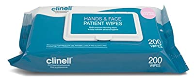 Clinell Patient Hands & Face Wipes - Pack of 200 by Gama Healthcare