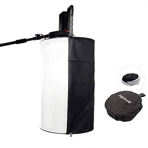 Aputure Space Light Softbox für Aputure 120D Mark 2 Aputure 300D Aputure 120D Aputure 120T und andere Bowens-LED-Leuchten – mit Seitenreflektor, Tragetasche und Pergear Tuch