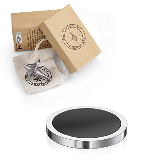 ForeverSpin Stainless Steel(Brush-Finish) Spinning Top - World Famous Spinning Tops