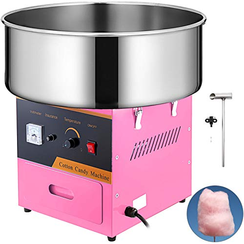 VBENLEM Electric Candy Floss Maker 20.5 Inch Cotton Candy Machine Pink Cotton Candy Maker Commercial 1030W For Various Parties