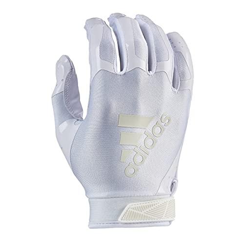 adidas ADIFAST 3.0 Football Receiver Glove, White/White, Large