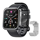 Smart Watches for Men Women IP68 Waterproof Fitness Tracker with Heart Rate Monitoring & Blood Oxygen Saturation 1.69 inch Full Touch Screen Smart Watch for iOS Android(Black)