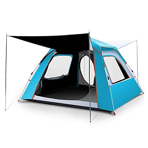 LGXXYF 3-4 Personas impermeabilizar la Tienda de campaña para Acampar con Tienda instantánea portátil con Bolsa de Carrer (Color : Blue)