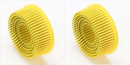 """3M 7525 Scotch-Brite Roloc Bristle Disc Yellow 2"""" Pack of 2"""
