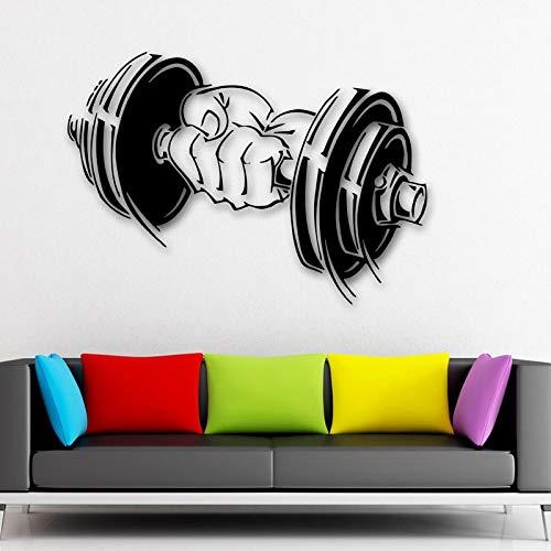 Tianpengyuanshuai Art Deco Vinyl sticker halter spieren gym arm muursticker afneembaar waterdicht