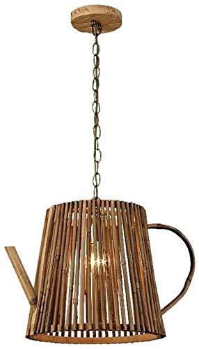 Lámpara De Pared Simple Y Fresca Forma de hervidor de madera Chandelier Colgante Luz Retro Rústico Lámpara Antigua Lámpara Edison Luz decorativa Luminaria Luminaria Luz de Techo