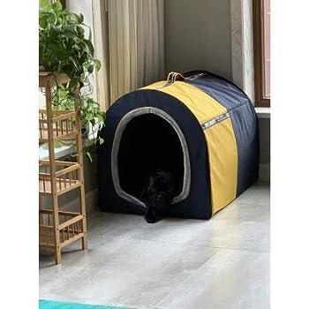 Cages et chenils Maison pour Animaux lit pour Animaux de Compagnie Niche pour Chien avec Balcon Litière pour Chat d'intérieur Chambre pour Animaux de Petite et Moyenne Taille