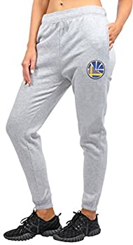 Ultra Game NBA Golden State Warriors Womens Relax Fit Jogger Heather Gray Large