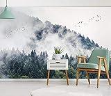 Papel Pintado 3D Pájaro Volador Pico De Montaña Bosque Nórdico Fotomural 3D Papel Tapiz Moderno Papel Pintado Pared Dormitorio 300cmX210cm