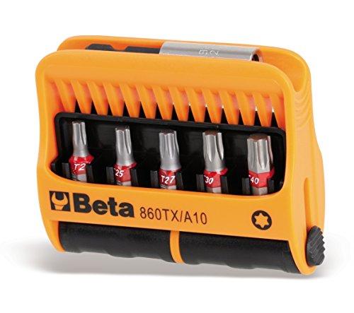 Beta 860TX/A10 - Inserti per Avvitatore con Portainserti Magnetico in Astuccio Tascabile - 10 Pezzi
