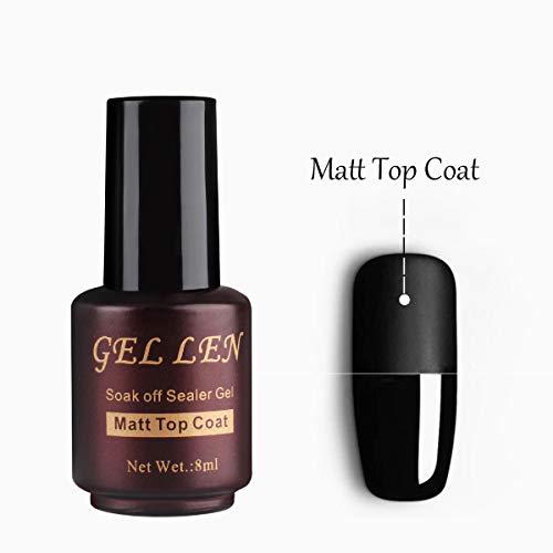Mat Top Coat Vernis Gel - Gellen Mat Finition Gel Top Vernis Semi Permanent Non...
