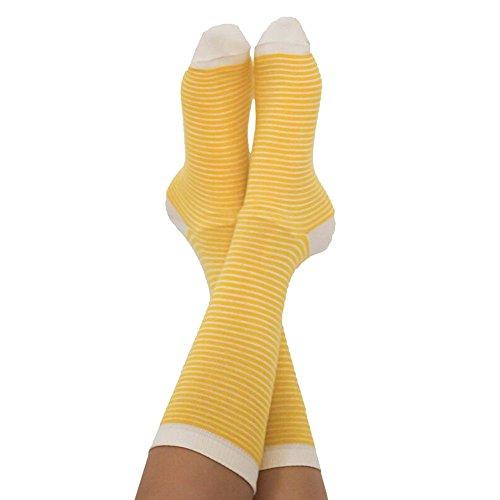 ALBERO Socken Bio-Baumwolle/Elasthan, Gelb/Natur, Gr. 35/38 (1 Paar)