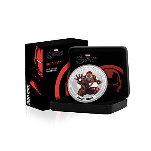FANTASY CLUB Marvel Avengers Iron Man Limited Edition - .999 Versilberte 65mm Sammlermünze der Luxusklasse