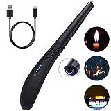 SZSMD Stabfeuerzeug Lichtbogen Feuerzeug Kerzenanzünder, USB wiederaufladbare Lighter, Winddichte...