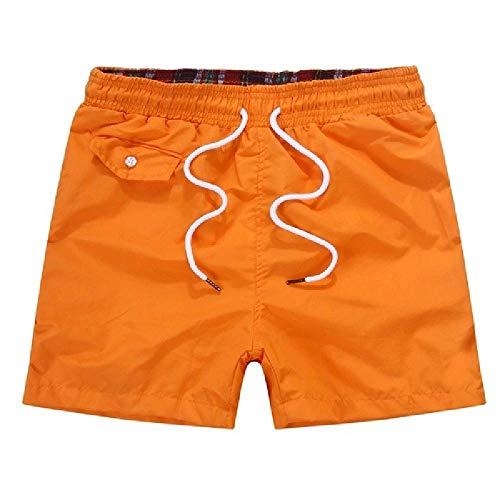 U/A Short de sport pour homme - Orange - M