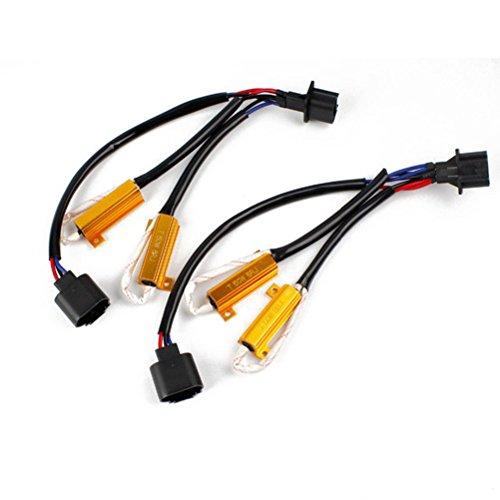 WINOMO Voiture Phare LED Canbus SANS ERREUR Charge résistance décodeur câble pour H13 ampoule à LED