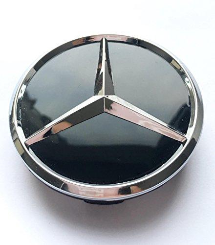 Felgendeckel Mercedes Benz 4 x 60mm Nabendeckel Radnabenkappen Radkappen Felgenkappen Nabenkappen Wheel Caps Chrom/Schwarz