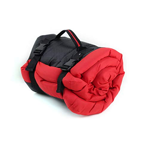 ZZHH Pet Bed Outdoor Portable mat Waterproof Dog Multifunction Pet Dog Puppy Beds Kennel for Small Medium Dogs Warm mat (Color : Red)