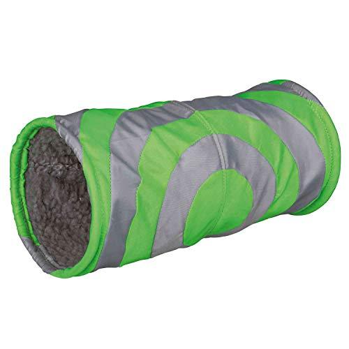 Trixie Peluche Cushy Play túnel, 15x 35cm, Color Gris/Verde