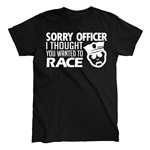 Sorry Officer I Thought T-Shirt (X-Large) Black