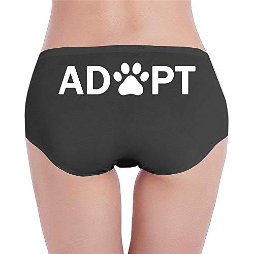 Adoptar Perro o Gato Rescate de Mascotas Animal Ropa Interior de Cintura Baja para Mujer Calzoncillos Deportivos
