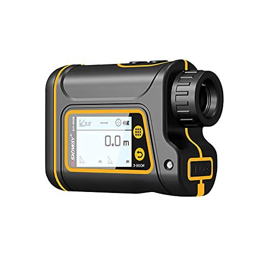 Telémetro Láser Recargable De Alta Definición para Caza y Golf Telémetro Portátil con Pantalla Táctil Digital Telémetro 800 1000   1500m Telémetro, 6 + 5% X Ampliación (800m)