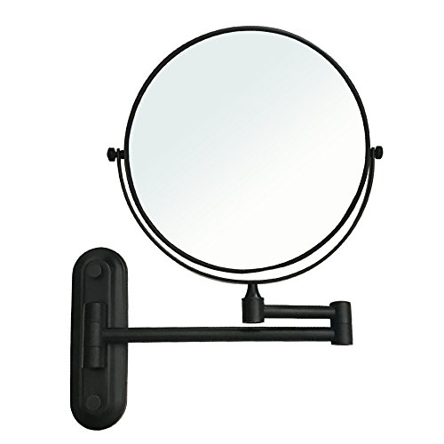 Gecious Wall Mounted Makeup Mirror Double Sided with 10X Magnification, Wall Mount -