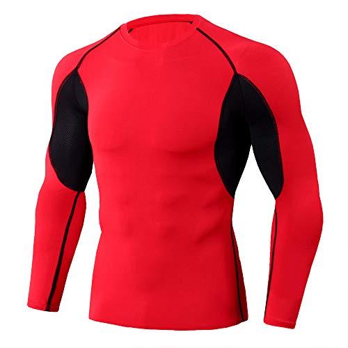 ZYSK Camisetas de Fitness Compresión Manga Larga para Hombre Ropa Deportiva de Transpirable y Secado Rápido para Correr, Ejercicio,Gimnasio