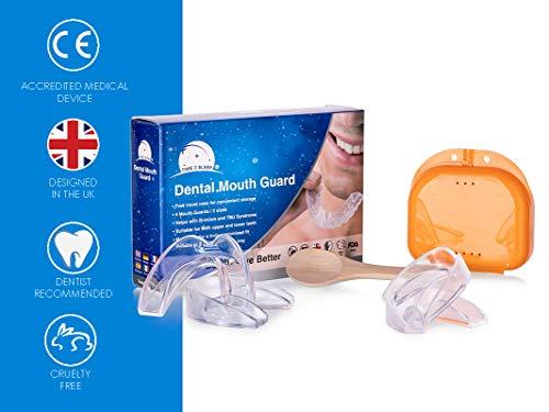 Mundschutz für das Zähneknirschen, 4 Stück, UK-Design, Zahnarzt empfohlen